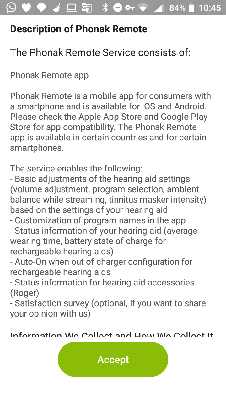 Update to Phonak Remote app available (new BT functionality for M