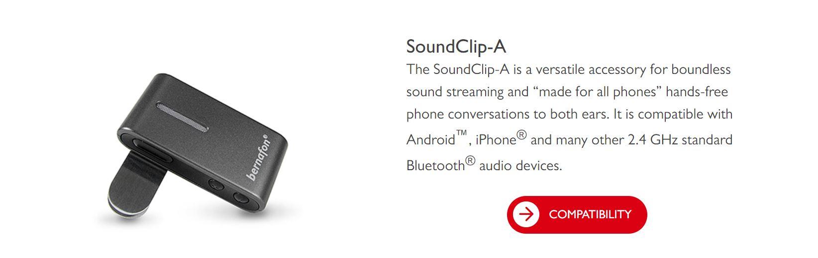 soundclip a has showed up on costco bernafon website hearing aids